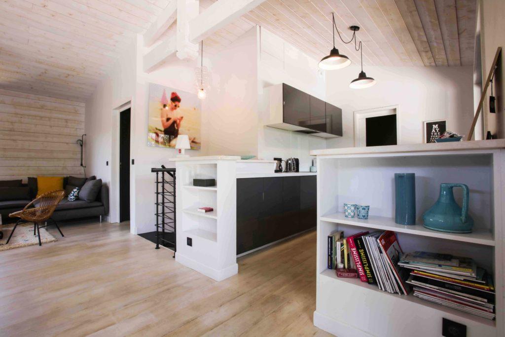 cuisine intérieur rénovation au Cap Ferret
